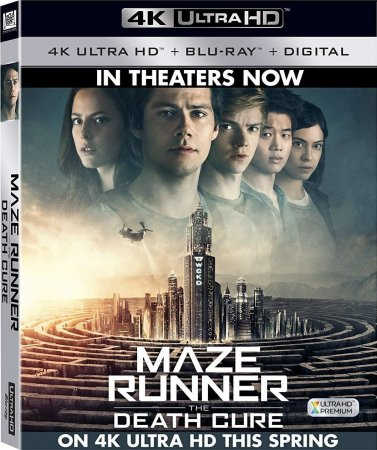 Maze Runner The Death Cure 4K Blu-ray 2018